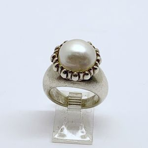 Jewelry - sterling silver 12mm mabe pearl ring #787